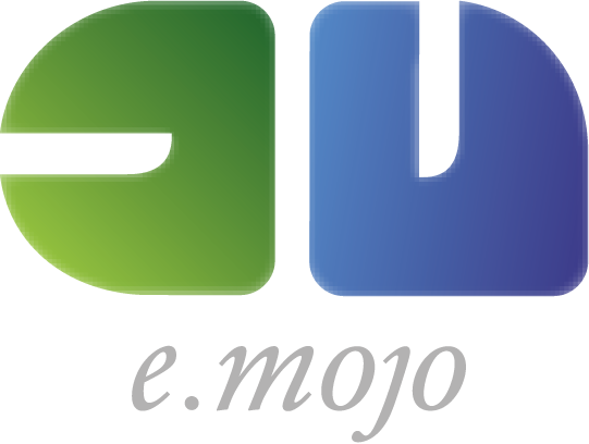 Logo: e-mojo · Multimedia- und Webentwicklung